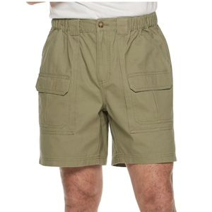 Croft Barrow Classic Fit Side Elastic Cargo Shorts